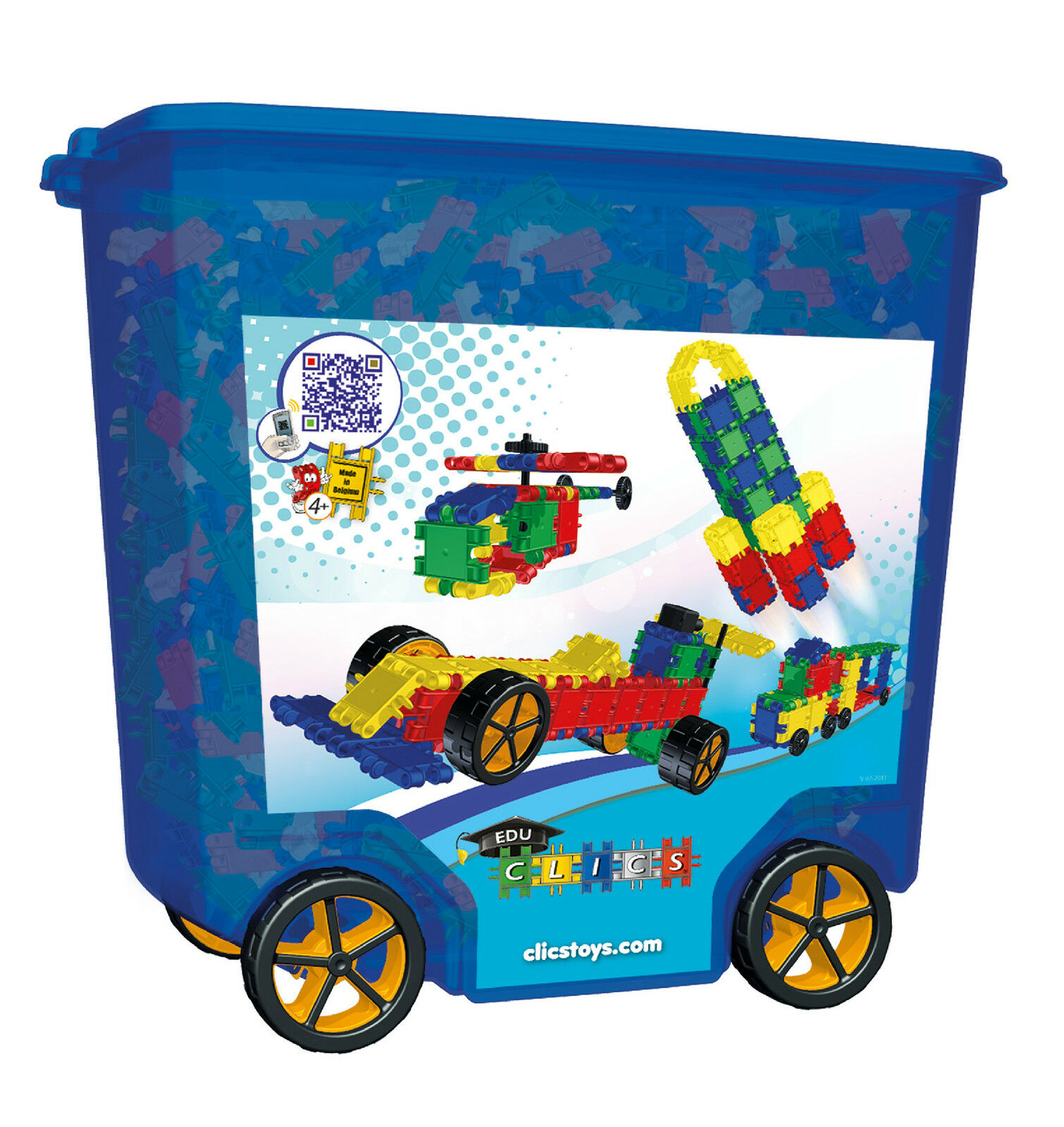 Clics Rollerbox Building Toy - 700 Pieces   BIG Wheels