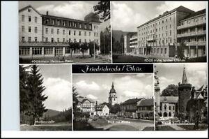FRIEDRICHRODA-Thueringen-DDR-Mehrbild-AK-ua-FDGB-Heim-Walter-Ulbricht-u-Kirche