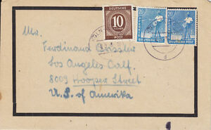 Germany Sc 537, 564 on 1948 Mourning Cover, Printed Funeral Notice, KÖLN CDS.