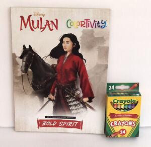 New-2-Disney-Princess-Mulan-Colortivity-Coloring-Book-amp-24-Crayons