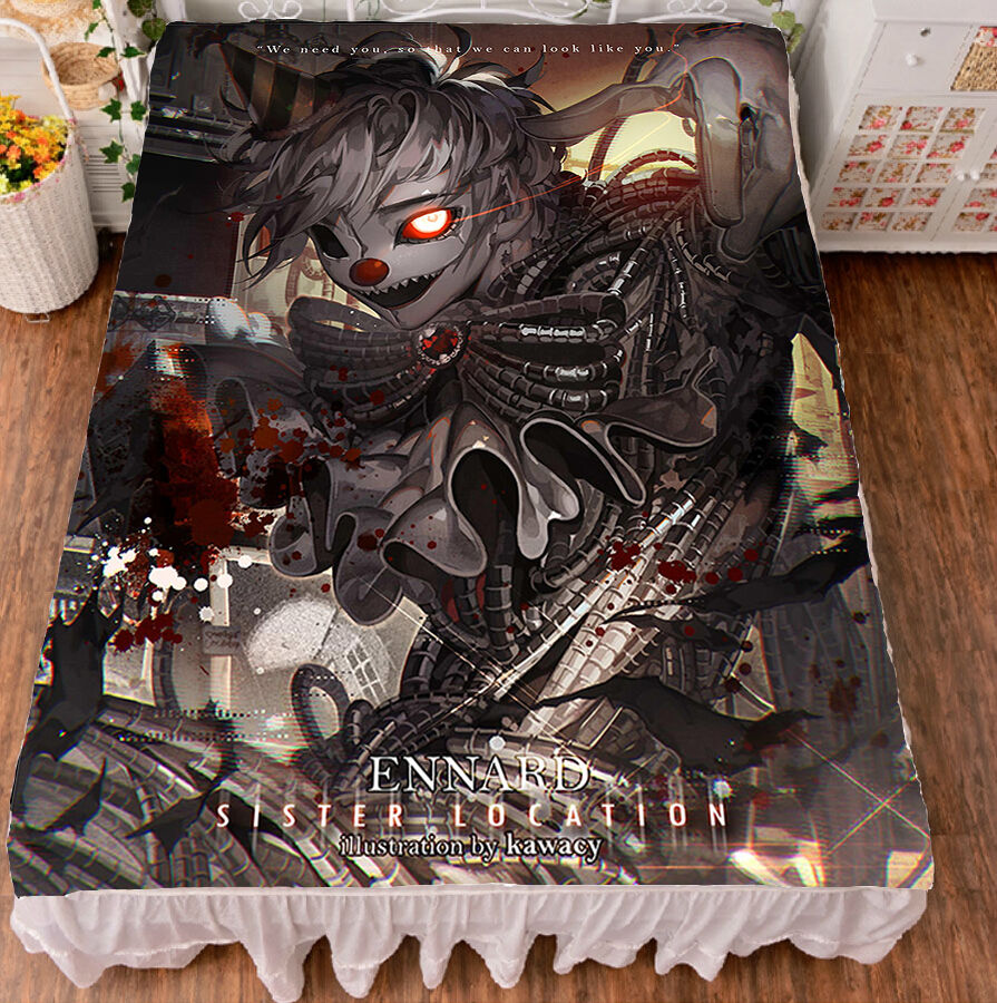 Anime Five Nights at Freddy's Flat Bed Sheet Bedding Blanket Gift 150200cm