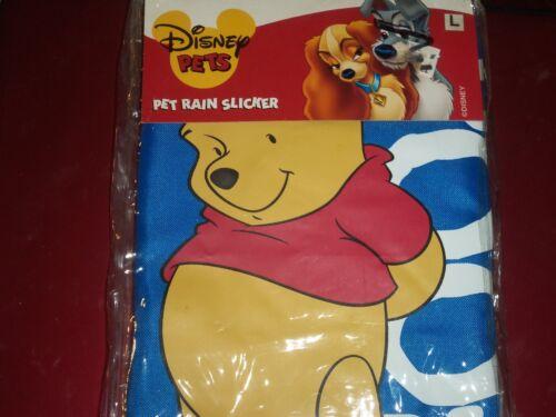 Large NIP Disney Pets Dog Winnie the Pooh Rain Coat Slicker Hooded Size