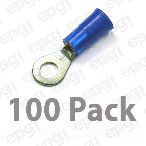 3M RING TERMINAL VINYL #8 BLUE 16-14 GAUGE #3M107A-100PK
