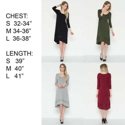 USA Womens Dresses COMFY MAXI Cocktail Party Bodycon Flared Swing Midi Dress