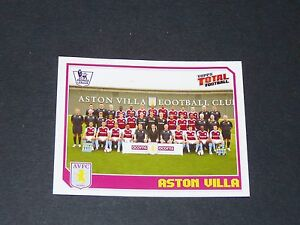 25 TEAM ASTON VILLA VILLANS TOPPS PREMIER LEAGUE FOOTBALL 2008-2009 PANINI