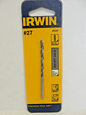 Hss wire gauge numbered drill bit no 81127zr irwin industrial tool irwin industrial tools 27 wire gauge drill bit 81127 greentooth Choice Image