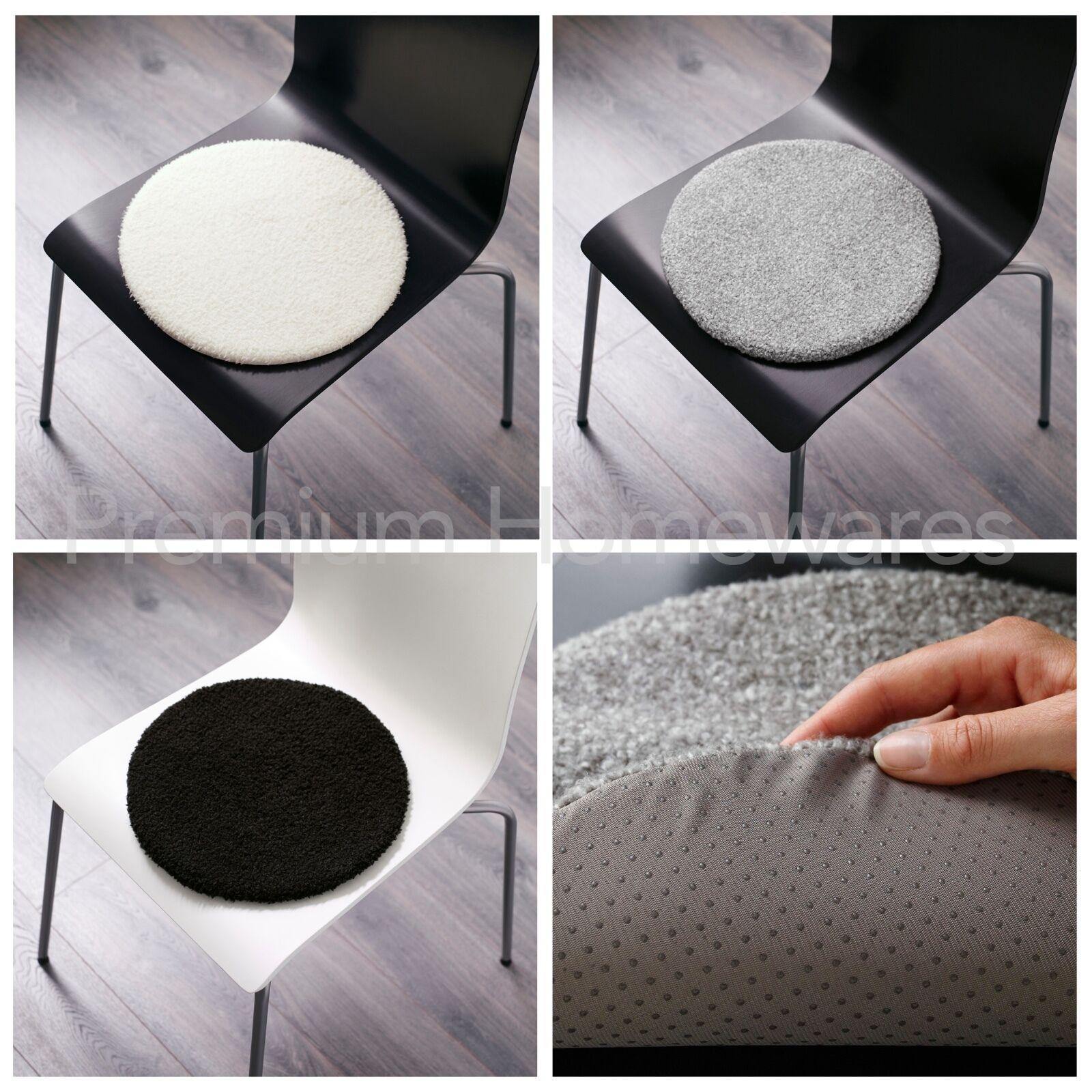 IKEA BERTIL 33cm Round Soft Foam Chair Pad BlackWhite  : s l1600 from www.ebay.co.uk size 1600 x 1600 jpeg 315kB