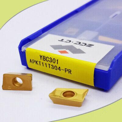 ZCC.CT APKT11T304-PR YBC301 P15-P35 10pcs Carbide inserts