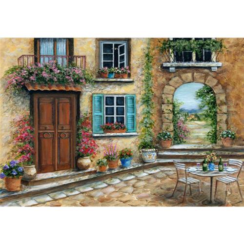 House Full Drill 5D Diamond Painting DIY Cross Stitch Kit Home Mosaic Art Garden