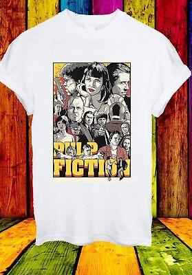 Pulp Fiction Mia Wallace Jules Winnfield Vincent Men Women Unisex T-shirt 2756