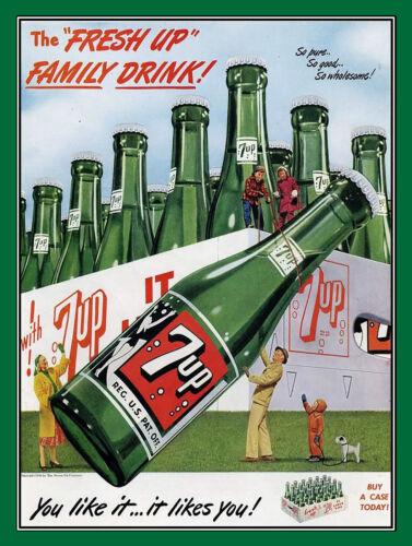 Famille 7UP boisson Man Cave Rétro Plaque Métal//signe pub bar