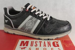Mustang-Hombre-Zapatos-de-cordones-Zapatillas-bajo-4095-piedra-gris-Suela-goma