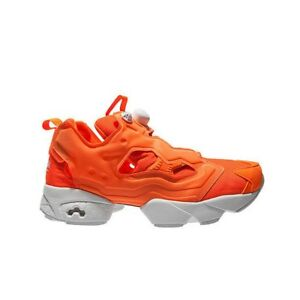 Reebok INSTAPUMP FURY TECH (SOLAR ORANGE WHITE) Men s Shoes M46319 ... ddc5dde13