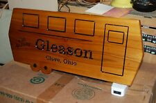 Machine Carved Wood / Wooden Sign Shaped like a Trailer