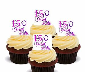 15th Birthday Girl Edible Cupcake Toppers Standup Wafer Fairy Cake