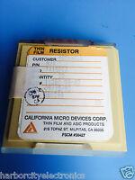 Tx1501j California Micro Devices Resistor Thin Film Rockwell 20/units
