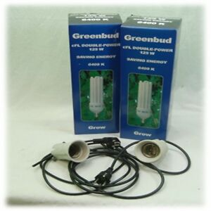 Greenbud 2 x 125-w 250-w watt bleu a grandi esl Grow-set plantes-Lampe de culture-afficher le titre d`origine 9uGiH9U7-07191149-215489003