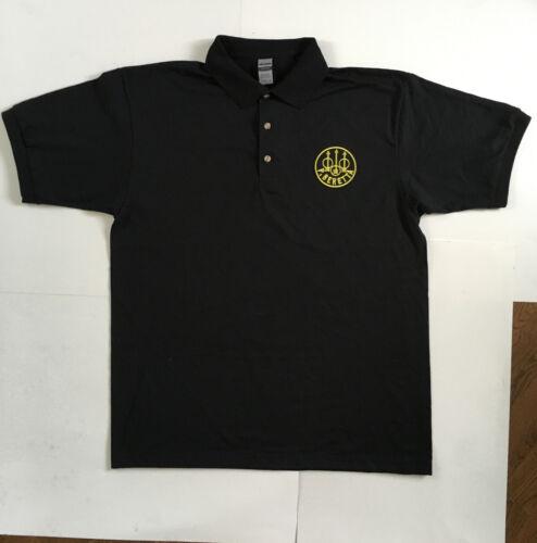 NEW Beretta Polo Shirt Black with Black//Yellow Emblem S-M-L-XL-XXL 9mm 92 M9 PX4