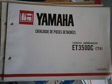 Yamaha groupe électrogène générateur ET350 DC - ET 350 DC :catalogue pièces 1981