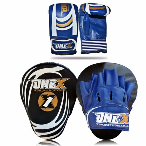 Adult Focus Pads Curved Mitts MMA Professional Training Set With Super Glove PAC