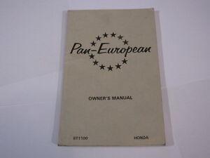 HONDA-ST1100-ST1100-1993-PAN-EUROPEAN-PAN-EUROPEAN-OWNERS-OWNER-039-S-MANUAL