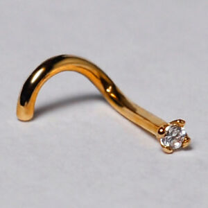 Screw-Nose-Stud-Ring-Body-Piercing-Jewelry-Solid-14K-Yellow-Gold-10-Gauge