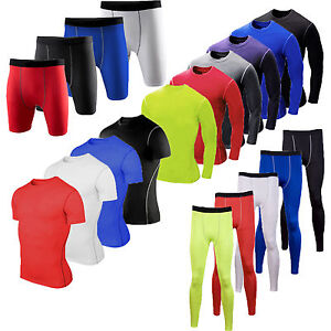 Men-Compression-Under-Shirt-Base-Layer-Tight-Top-T-Shirt-Athletic-Sport-Gym-Wear