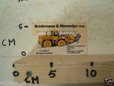 STICKER,DECAL BRINKMANN & NIEMEIJER NV BULLDOZER IJSSELSTEIN