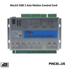 Upgrade Mk3 V Cnc Mach3 Usb 3 Axis Motion Control Card Breakout Board Pc66
