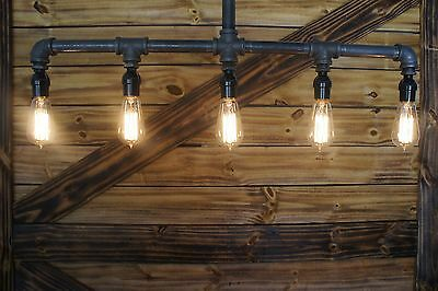 *****(  For  dylansmimi  ) Edison Age 5-Light Pendant Pipe Light Chandelier  ***