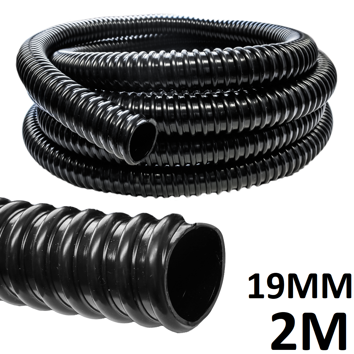 2M meters x Water Butt Rain Diverter Saver Extension Pipe Hose 19mm greenhouse