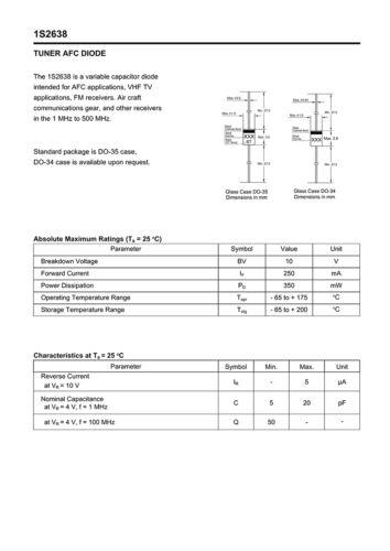 20//60//100Pcs 1S2638 DO-35 Variable Capacitance Diode 10 V 250 mA DIODE VARACTOR