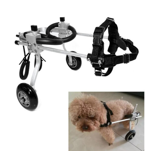 Cart Pet//Dog Wheelchair for Handicapped Hind Legs Dog Pet Small 1-2.5kg
