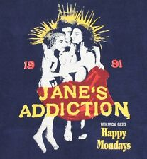 XL * vtg 90s 1991 JANE'S ADDICTION Happy Mondays tour t shirt * 89.59