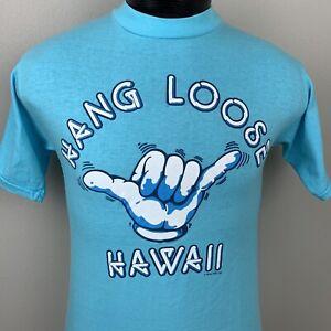 Vintage-POLY-TEES-Hawaii-T-Shirt-1984-Single-Stitch-Tee-80s-Beach-Surf-Skate