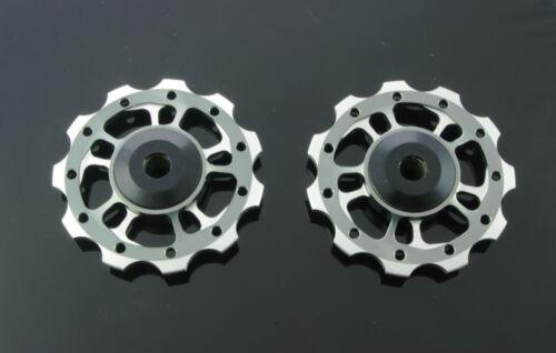 YUNIPER 11 Pulleys Schaltröllchen grau CNC optimiert auf 10-fach Leicht Pulley