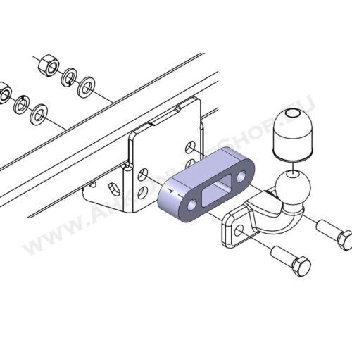 Distanzplatte Kugelkopfverlängerung 38mm Ford Ranger III 2012-2019 EXTRA LANG