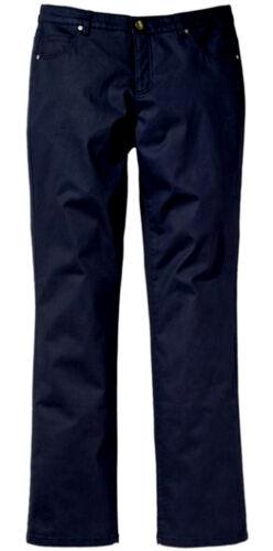 NUOVO Donna Pantaloni Chino Blu Stretch 5 Pocket Kurzgr 24,25 langgr 88 44 48,50