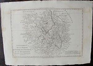 Carte Gouvernements De La Marche Du Limosin, De L'auvergne Et Du Bourbonnois, Pa
