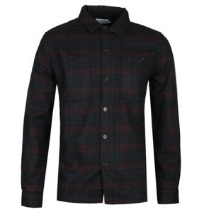 FARAH-VINTAGE-034-BLACKMORE-034-CHECK-L-S-OVERSHIRT-RED-NEW-MOD-CASUAL