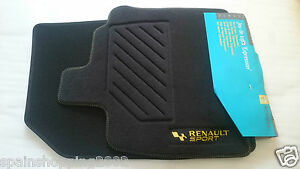 4 tapis de sol textile renault sport clio iii 3 rs gt original oem ebay. Black Bedroom Furniture Sets. Home Design Ideas