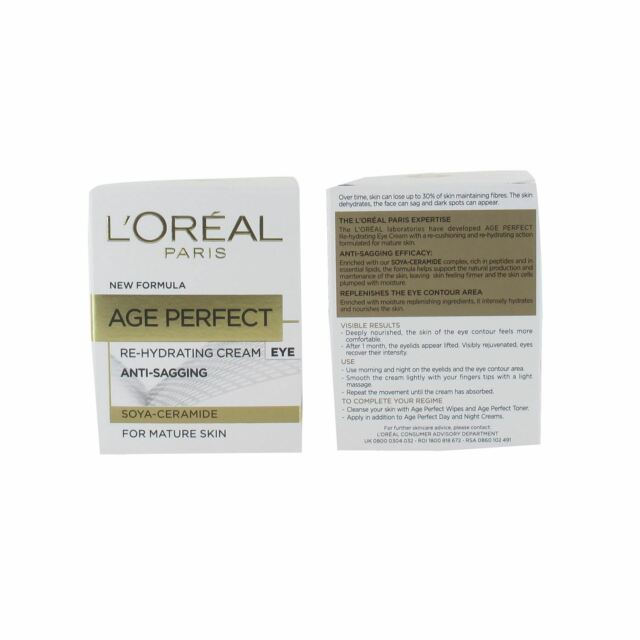 L'Oreal Age Perfect Re-Hydrating Eye Cream 15ml Anti- Sagging for Mature Skin