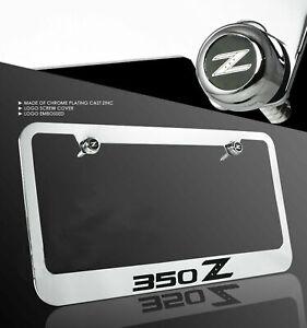 New chrome license plate Nissan 350Z cast zinc frame front rear 2002 - 2009