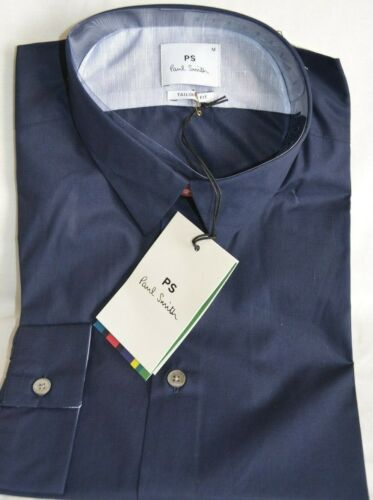 M//L//XL Paul Smith Smart Tailored Fit Navy Blue Long Sleeved Men/'s Shirt Sizes