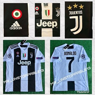 low priced 441e4 29c01 ADIDAS ☀︎ Juventus ☀︎ Cristiano Ronaldo ☀︎Champions League Patches ☀HOME  JERSEY | eBay