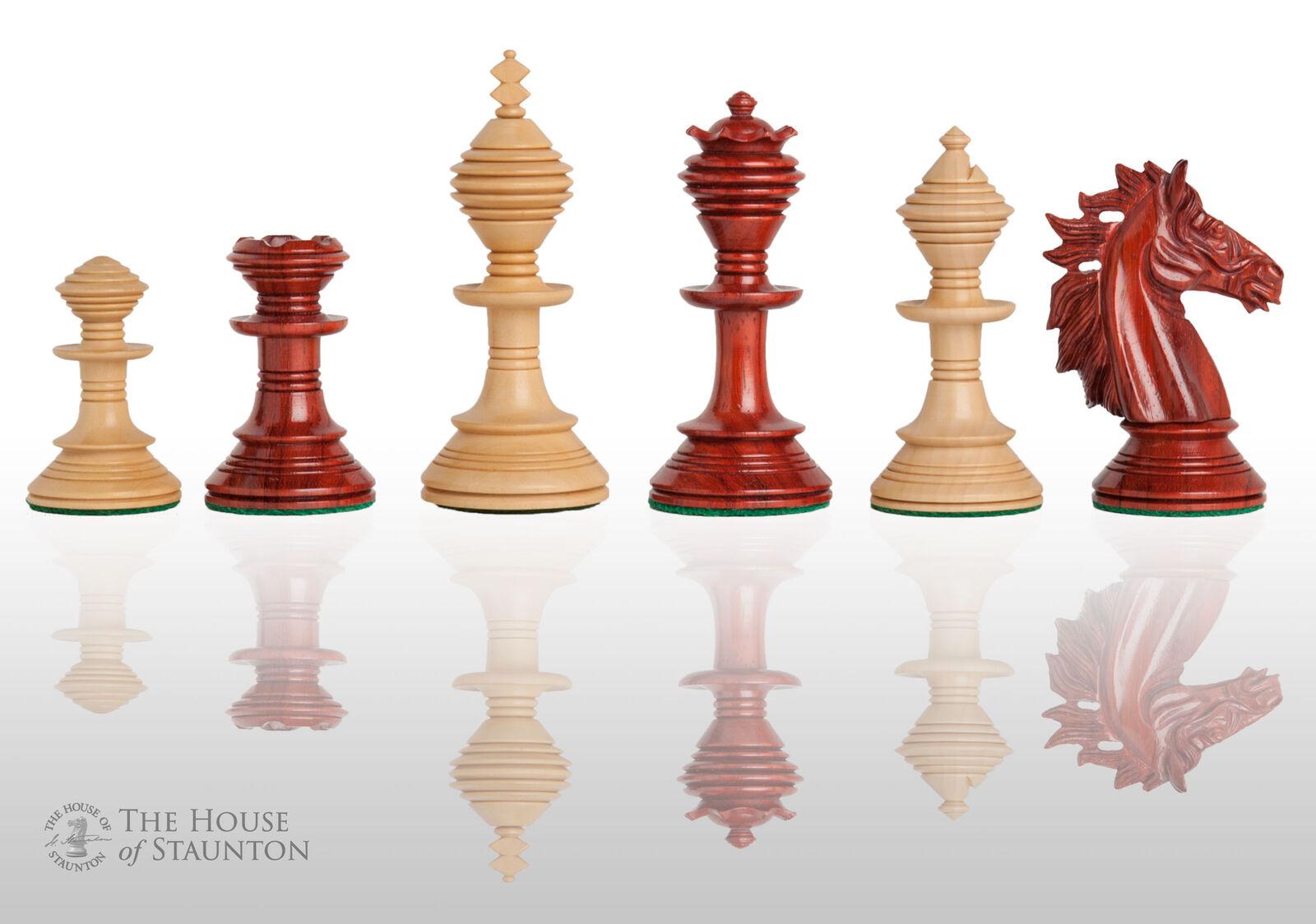 Le Pavia Luxe Chess Set-pièces seulement - 4.4  King-Sang palissandre