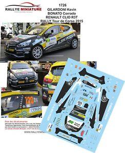 2019 Nouveau Style Decals 1/43 Ref 1726 Renault Clio R3 Gilardoni Tour De Corse 2015 Rallye Wrc