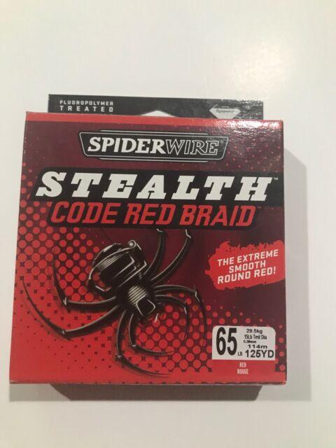 Spiderwire Stealth CODE RED 15LB Braided Fishing Line 150m Spool Braid 0.23mm