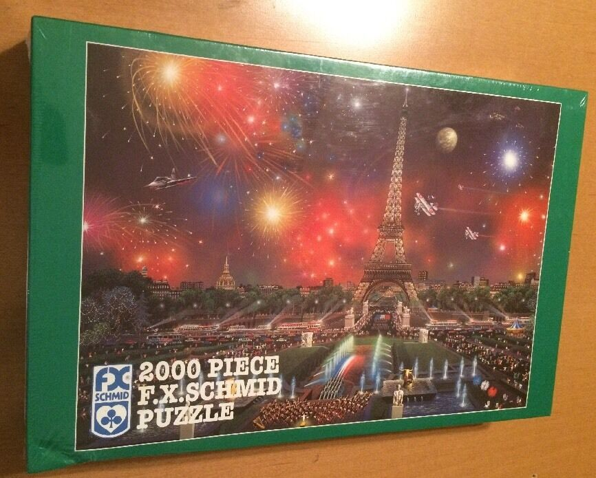 FX Schmid 2000 Piece Puzzle - Eiffel Tower by Alexander Chen (See Description)