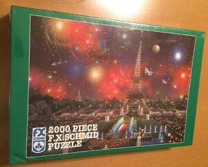FX Schmid 2000 Piece Puzzle - Eiffel Tower by Alexander Chen (See Description)